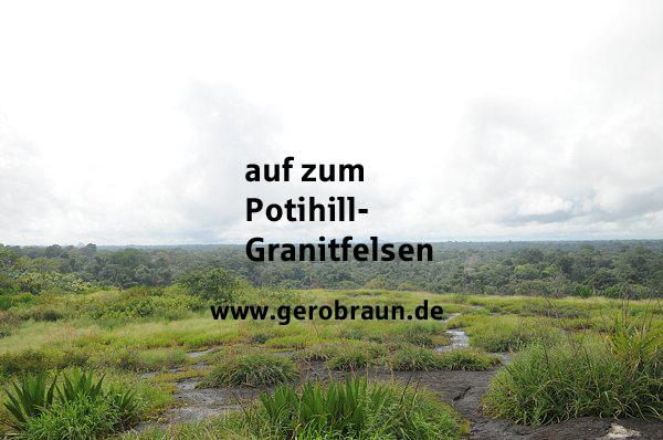 auf zum Potihill-Granitfelsen