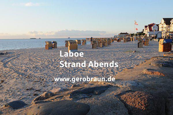 Laboe Strand Abends